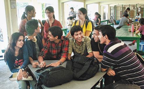 Adda with friends in college